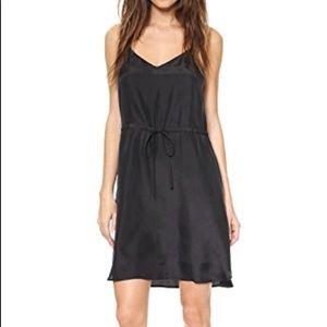 Madewell Silk Racerback dress black